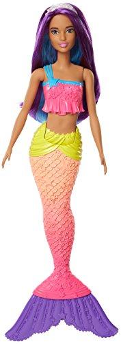 Barbie Dreamtopia, muñeca sirena top rosa, juguete +3 años
