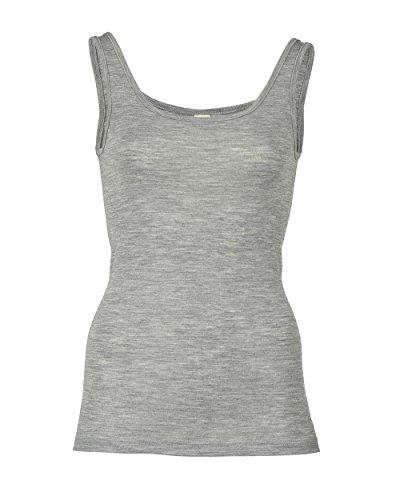 Damen Trägerhemd, Wolle Seide, Gr. 34 - 48, 3 Farben (38/40, Hellgrau melange)