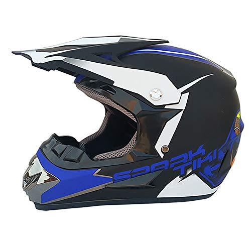 HZIH Casco de Motocross Profesional,Cascos de Cross de Moto Set Certificación ECE,Casco Off Road Quad ATV Go-Kart Casco de Bicicleta G,M=54~55cm