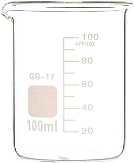 Laboratory Equipment 100ML كوب زجاجي للمختبرات الكيمياء واضحة مقياس مختبر مختبر كوب البورسليكات الزجاج مقاومة للحرارة كبار...