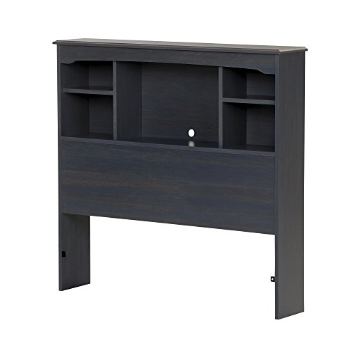 South Shore Aviron Bookcase Headboard-Twin-Blueberry