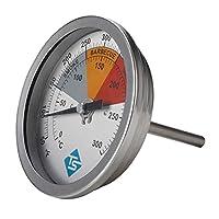 Colcolo F&C3インチBBQSMOKER / PITILL THERMOMETER TEMP GAUGE STAINLE STEEL0-300°C