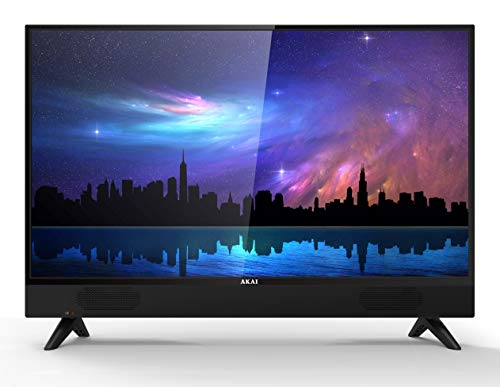 AKAI TV AKTV3215 Ethernet Televisore 32 Pollici TV LED HD Soundbar integrata