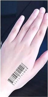 Qqinghan Zwarte Tijdelijke Tattoo Body Art Tatoeages 3D Waterdichte Tijdelijke Tattoos Sticker (Color : 9)