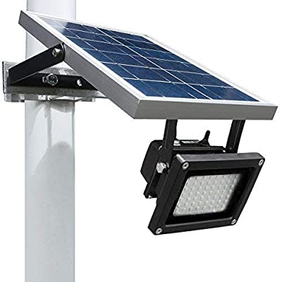 Solar Outdoor Flood Light by Wonderlux. Included Mounting Bracket for Easy Installation. Needs No Electrical Connection. Provides Eco-Friendly Lighting to Outdoor Area, Shed, Pool, Garage and more.