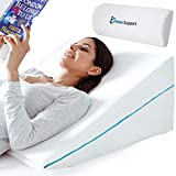 RELAX SUPPORT RS6 Wedge Pillow Whole Memory Foam 3-in-1 Technology Large Adjustable Bed