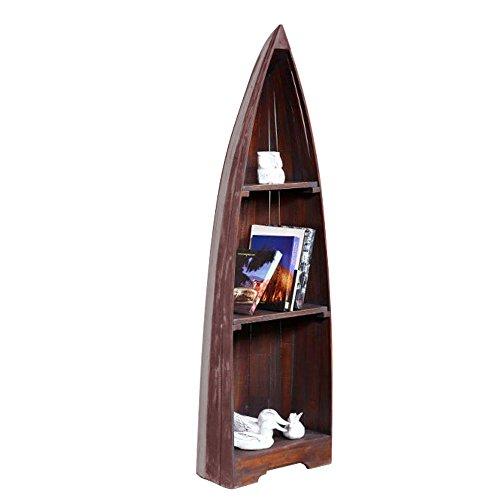 BHP Stand Regal Bücher Boot Mahagoni braun Wohn Zimmer Dekoration Ablage Möbel Schiff B991454M