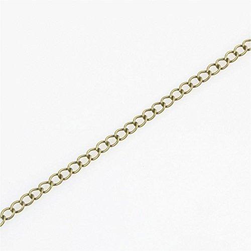 Catena maglia Cavallo in metallo (5metri di colore rame) dimensioni: 5x 3mm