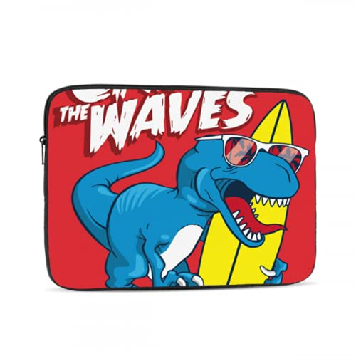 MacBook Pro Protector Dinosaur is Riding Surfboard Laptop Case MacBook Pro Multi-Color & Size Choices10/12/13/15/17 Inch Computer Tablet Briefcase Carrying Bag