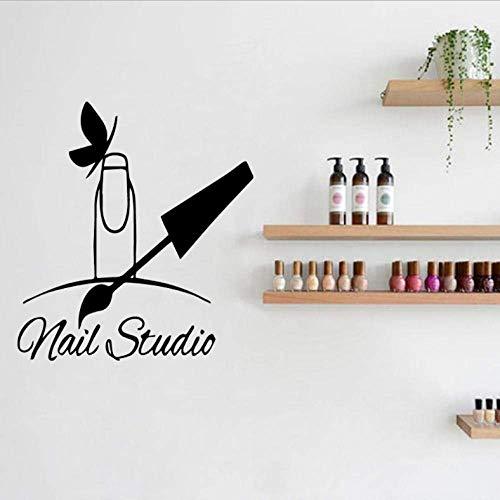 Nail Polish Beauty muursticker manicure woonkamer vinyl kunst decal zelfklevend papier decoratie van het huis 43 x 57 cm
