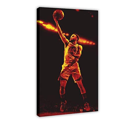 Stephen Curry Active Star Legend - Póster creativo de estrella de baloncesto para decoración de la pared de 60 x 90 cm