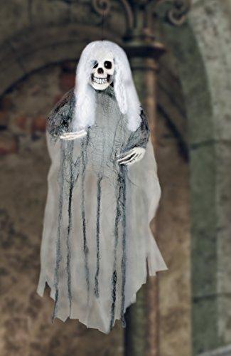Boland- Decorazione Teschio Sposa Fantasma Ghost Bride, Bianco/Nero, 72006