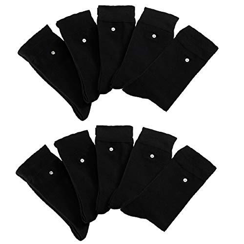 wellyou 10-er Pack Click und Wash Socken schwarz gr 43-46