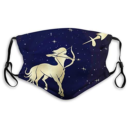 Gesichtsdekorationen Mas_ke, Sternennacht mit Sternbild-Silhouette eines Zentauren, bequem und Bedruckt für Jugendliche und Kinder