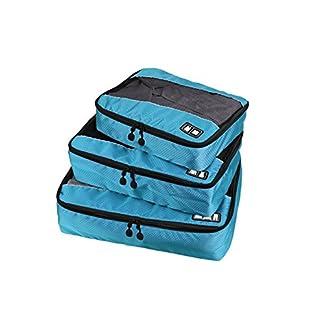 Gepaeck-reisen-Verpackung-Cube-Taschen-Set-mit-Herzmuster-fuer-Handgepaeck-Accessoires-Koffer-und-Rucksackreisen–langlebig-3-Stueck-Weekend