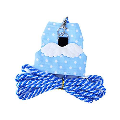 POPETPOP - Arnés para mascotas pequeñas, chaleco de seguridad para caminar al aire libre, collar de tracción para hámster, conejo, cobaya, ardilla (azul)