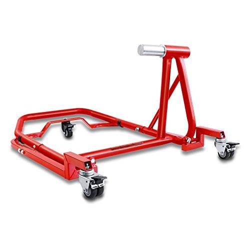 ConStands - Motorrad Montageständer Ducati Diavel/S 11-20 Single Mover Rot hinten inkl. Rangierhilfe und Bolzen