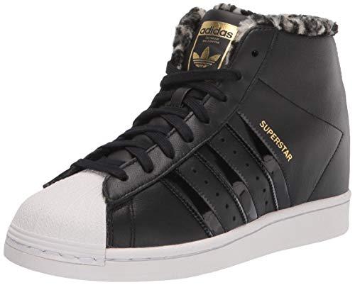 adidas Originals womens Superstar Up Sneaker, Black/Black/Gold Metallic, 9.5 US