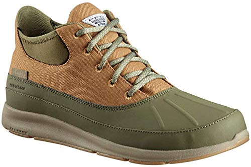 Columbia PFG Men's Delray Duck PFG Rain Shoe, nori, Pebble, 11 Regular US