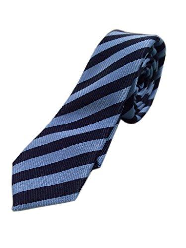 Blacksmith Corporate Navy Blue Formal Tie For Men – Stripes