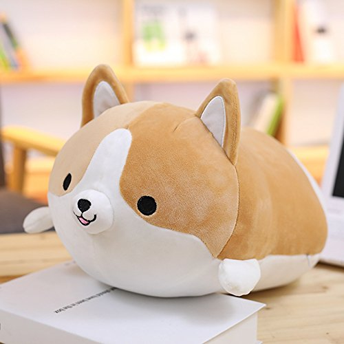 Ambility 35cm Cute Corgi Dog Plush Toy Stuffed Soft Animal Cartoon Cushion Sofa Decor