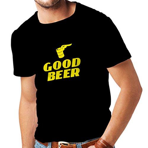 lepni.me Männer T-Shirt Ich Brauche EIN gutes Bier, Geschenk für Bierliebhaber Partykleidung (Large Schwarz Gelb)