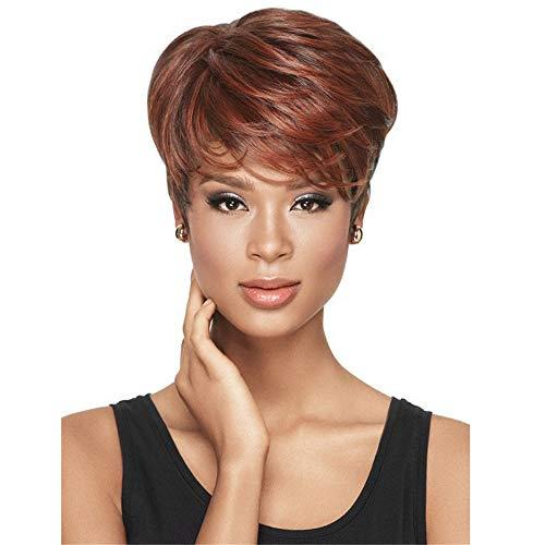 peluca,Pelucas europeas y americanas pelucas de seda de alta temperatura de fibra qumica, pelucas de pelo corto para mujeres africanas
