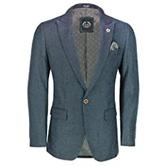 Perfect for Smart Casual Wear Add a Classic Spin to your Casual Outfit with this Single or Double Breasted Jacket for Men Please visit our Store for New Collection of Suits, Blazers and Waistcoats Finer Details Felt Lining Underneath Collars, Side Ve...