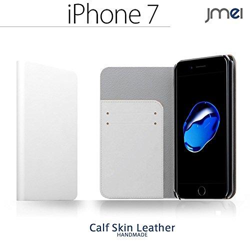 iPhone 7 ケイタイケース 本革 ZAN(ホワイト) jmeiオリジナルレザーフリップカバー 手帳カバー スマートフォンカバー アップル apple
