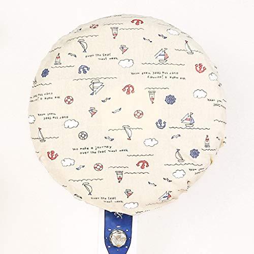 YHWLKK Round Kid Finger Protector Stofbescherming ventilator, beschermkap, netweefsel voor Pedestal, ventilator, wandventilator, trilplaat Baiyun Small Sailboat