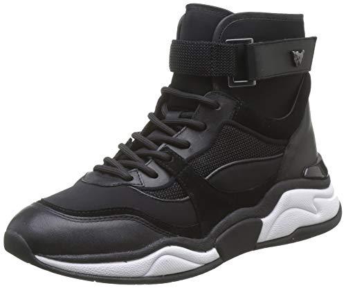 Marc Cain Damen Hohe Sneaker, Mehrfarbig (Black 900), 40 EU