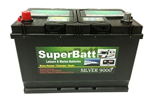 12V 110AH SuperBatt CB110 Deep Cycle Leisure Battery Caravan Motorhome - Mover, Marine Boat