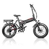 Fafrees 20 Pulgadas Bicicleta Eléctrica Plegable Motor sin Escobillas 500W, Shimano 7S, Batería Extraible Panasonic 48v 13.6AH, Fat Bike eléctrica Plegable con Faros Superbrillantes