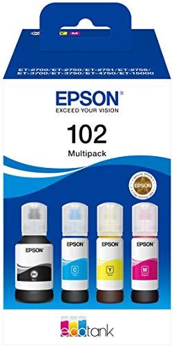 Epson C13T03R640 Tinte (4) Cyan, Magenta, gelb, schwarz 337 ml 25.500 Seiten Flasche EcoTank 102, Standard