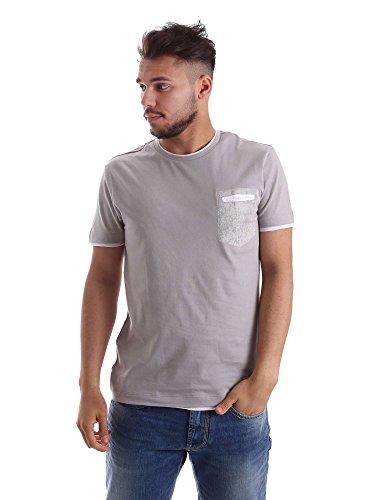 Gas Jeans Nasir N T-Shirt, Grigio (Malta), Large (Taglia Produttore:L) Uomo