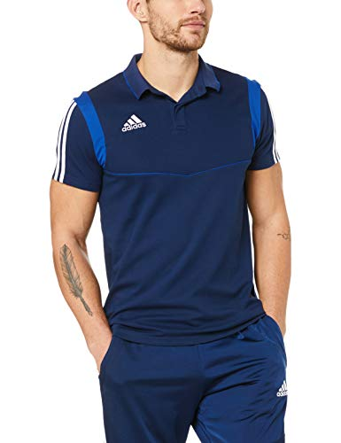 adidas Herren TIRO19 CO Polo Shirt, Dark Blue/Bold Blue, XL