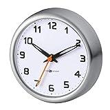 mDesign Reloj de baño con Ventosa – Reloj de Pared fácil de Colgar – El Accesorio para el baño Adherente e Impermeable – Imprescindible para Saber la Hora en la Ducha