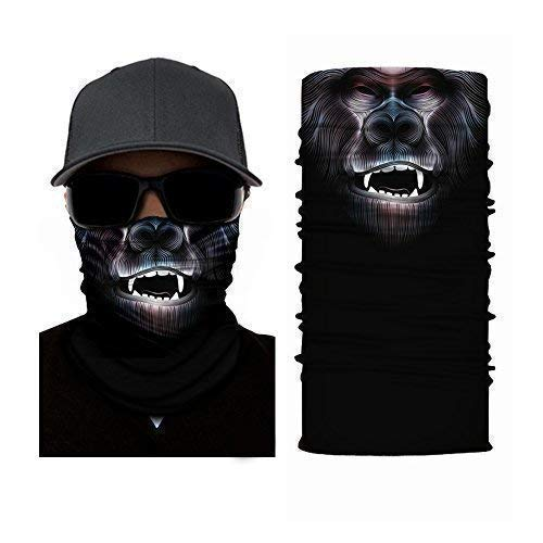 Ruffnek APE FACE MASK DESIGN - SKI/SNOWBOARD MASK, NECK WARMER, HEAD SCARF Multifunctionele sjaal/snood - ONE SIZE for MEN, WOMEN & KINDEREN