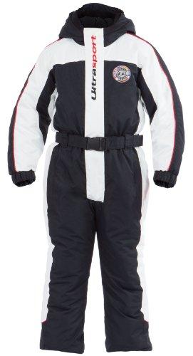Ultrasport Kinder Schneeanzug Lech, Weiß/Schwarz/Rot, 92/98, 10360