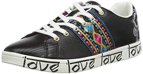 Desigual Shoes Cosmic Exotic Indi, Zapatillas Mujer, Negro 2000, 37 EU