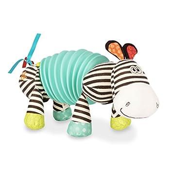 B toys by Battat – Musical Accordion Zebra Plush – Sensory Toy – Non-Toxic Multicolor 10  x 6  x 4   BX1534GTZ