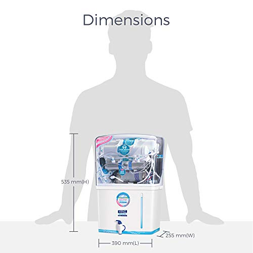 Kent - 11076 New Grand 8-Litres Wall-Mountable RO + UV+ UF + TDS (White) 20 litre/hr Water Purifier