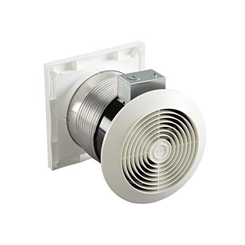 "Broan-Nutone 512M Through-the-Wall Ventilation Fan, White Square Exhaust Fan, 6.0 Sones, 70 CFM, 6"""