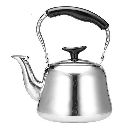 LYY Estufa Hervidor 1L Hervidor de Agua con silbido Cocina de inducción Espesar Acero Inoxidable Tetera Cafetera Caldera Viaje en casa Camping Estufa de Gas/cerámica