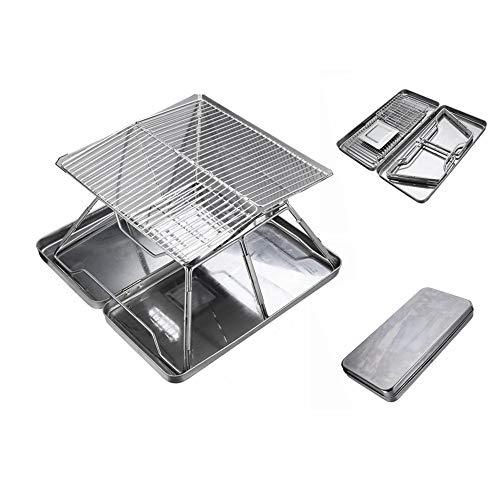 41PVG2n xwL. SL500  - YWZQ Outdoor-Holzkohle BBQ Grill, Schärfen Edelstahl Folding BBQ-Grill-Zubehör Mobile Home Küche Camping Kochen Werkzeuge