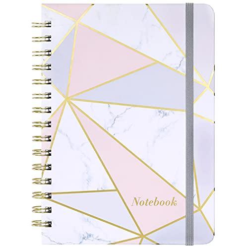 Amazon Brand - Eono A5 Notebook Lined Journal, Spiral Notebook Wirebound with Premium Quality, 21 cm × 16 cm