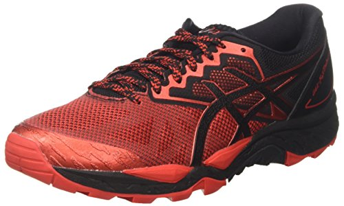 Asics Gel-Fujitrabuco 6, Zapatillas de Running para Hombre, Negro (Black/Fiery Red/Black 9023), 40 EU