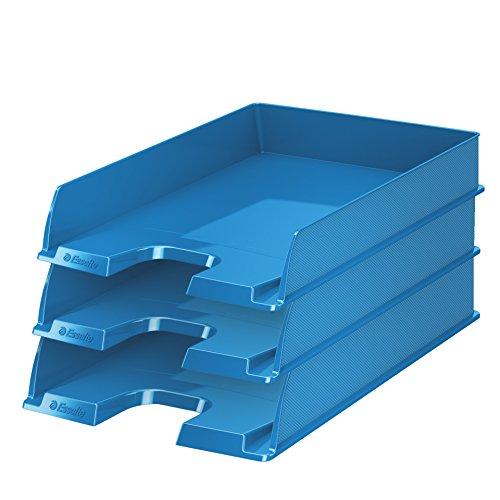 Esselte 623926 - Vaschetta portacorrispondenza Europost VIVIDA standard, 10 pezzi, colore: Blu