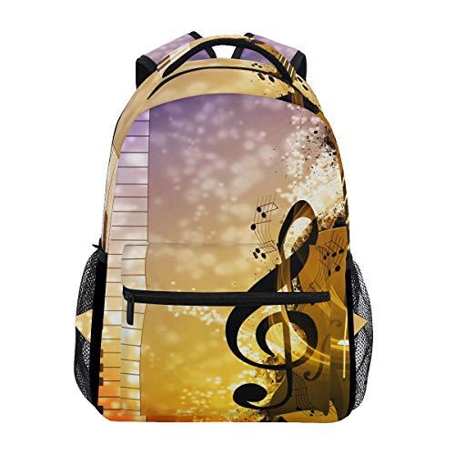Jokerr Rucksack, Schneemusik, Klavier, große Kapazität, lässig, bedruckt, Schultertasche, Tagesrucksack, Reisen, Laptop, Damen, Erwachsene, Jungen und Mädchen