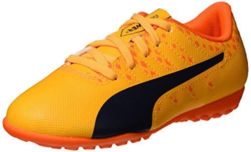 PUMA EvoPower Vigor 4 TT Jr Fußballschuhe, Orange (Ultra Yellow-Peacoat-Orange Clown Fish 03), 38 EU